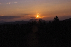 Sonnenuntergang Ammergebirge
